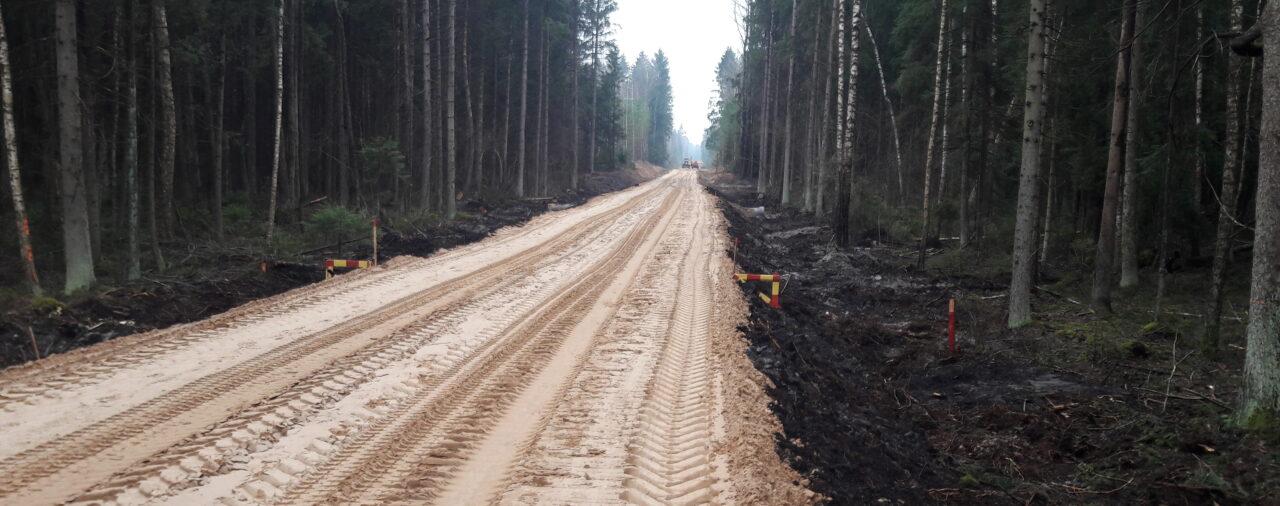 Ввод в эксплуатацию строительного объекта: «Лесохозяйственная дорога № 2 в Чашникском лесничестве Бешенковичского лесхоза»
